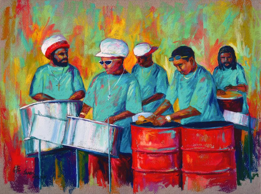 Coastal Art Carribean Rhythm 2