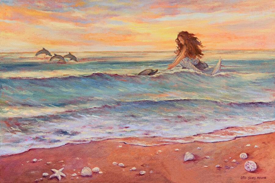 Coastal Art by James Melvin, A Close Encounter