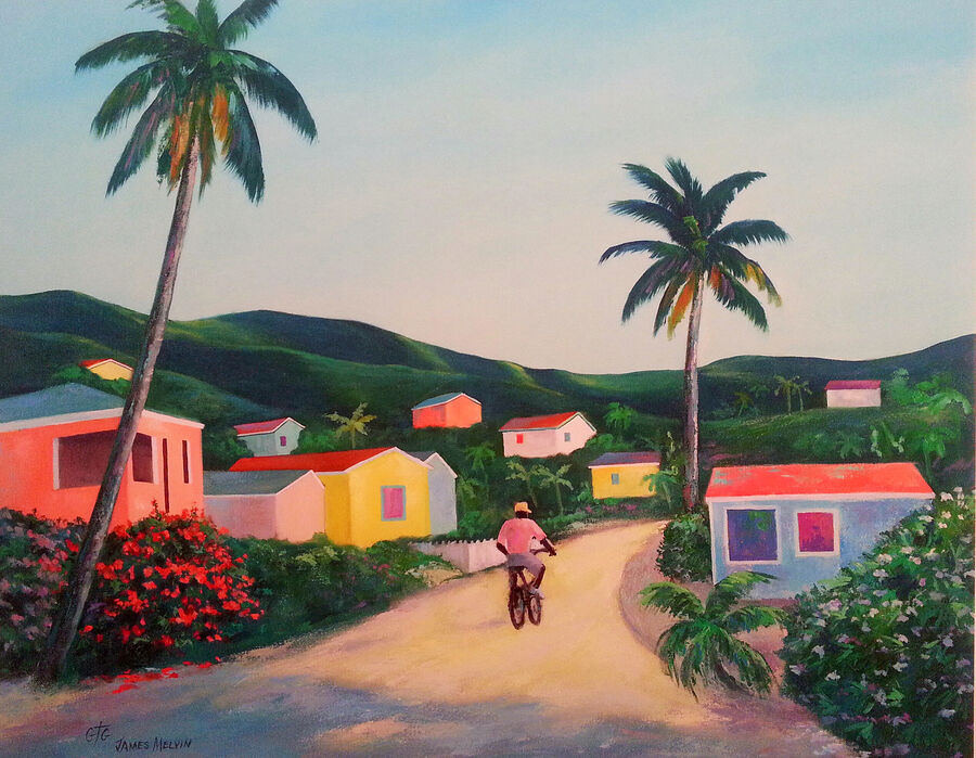 Coastal Art by James Melvin, Antigua