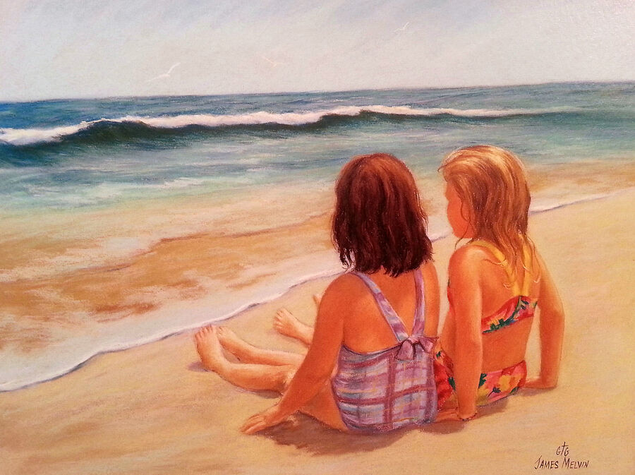 Coastal Art by James Melvin, Beach Buddies