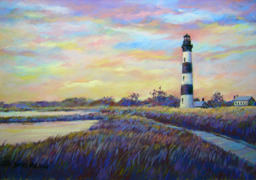 Coastal Art by James Melvin, Bodie Island Sunrise