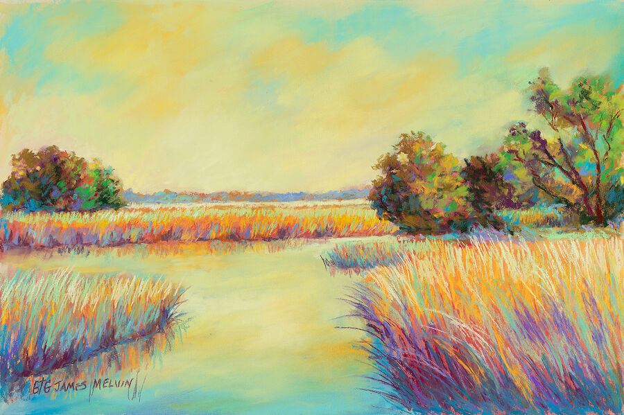 Coastal Art by James Melvin, Marsh Splendor