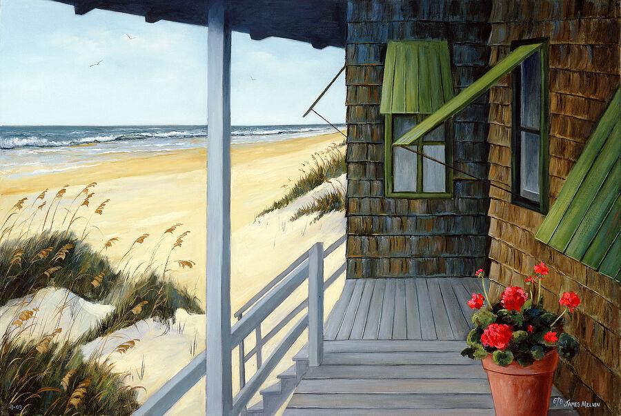 Coastal Art by James Melvin, Ocean Breeze