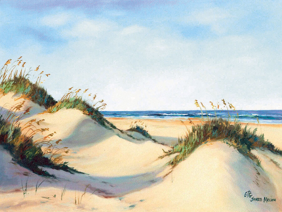Coastal Art by James Melvin, Rolling Dunes