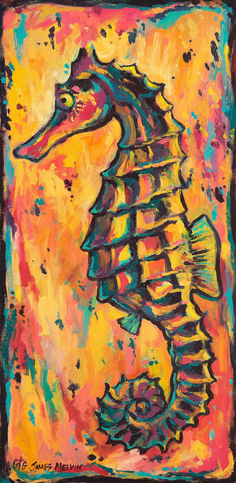 Coastal Art by James Melvin, Seahorse Dance