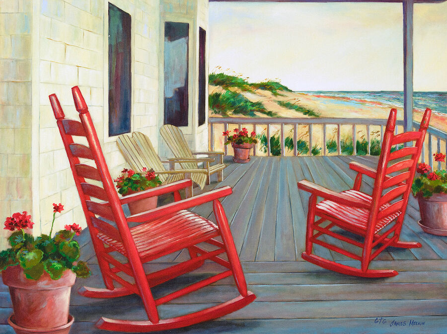 Coastal Art by James Melvin, Summer Glow
