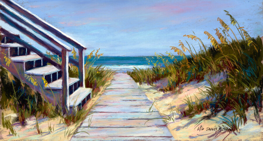 Coastal Art by James Melvin, Vacation Time