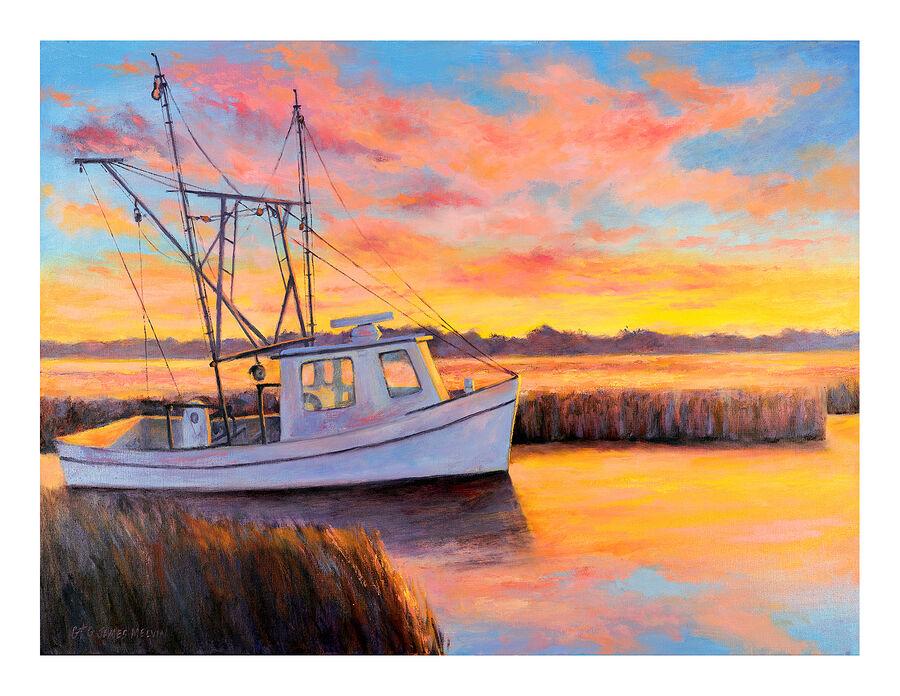 Coastal Art Notecard A Happy Place