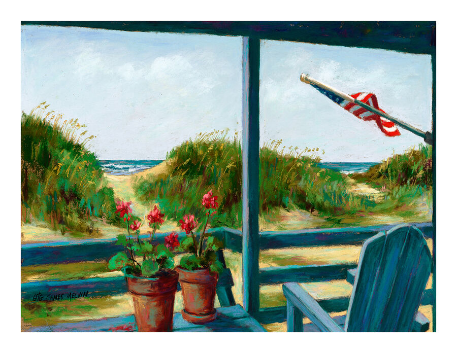Coastal Art Notecard Liberty