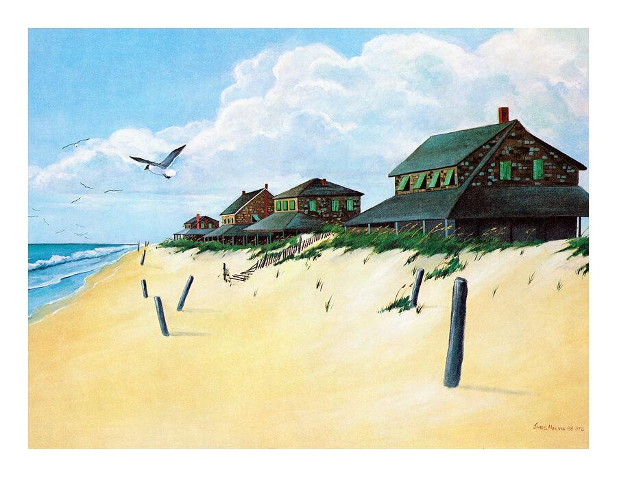 Coastal Art Notecard Nagshead