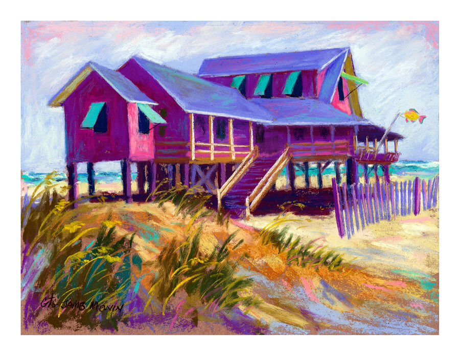 Coastal Art Notecard Paradise View