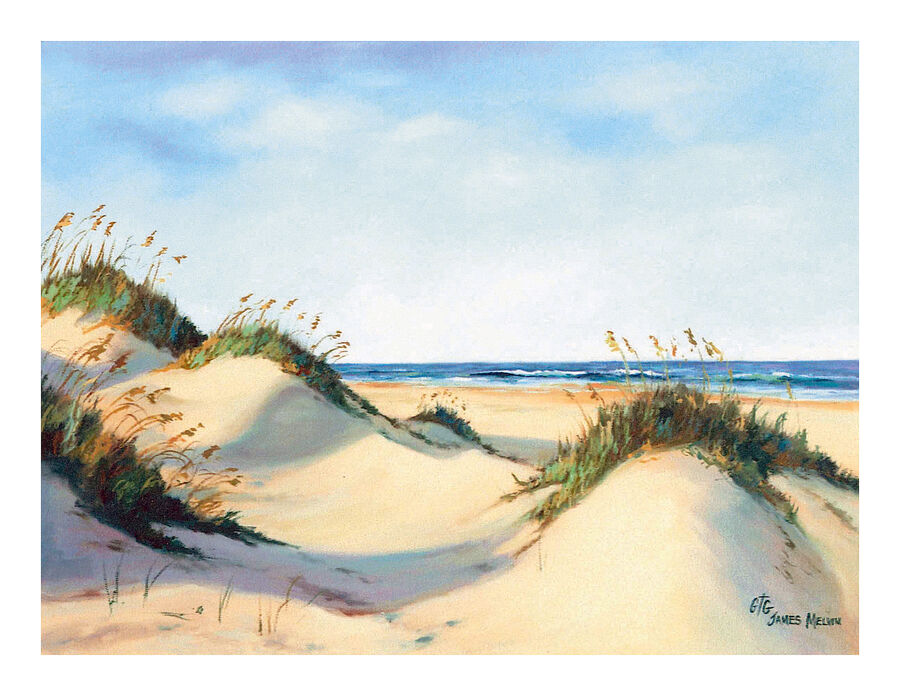 Coastal Art Notecard Rolling Dunes