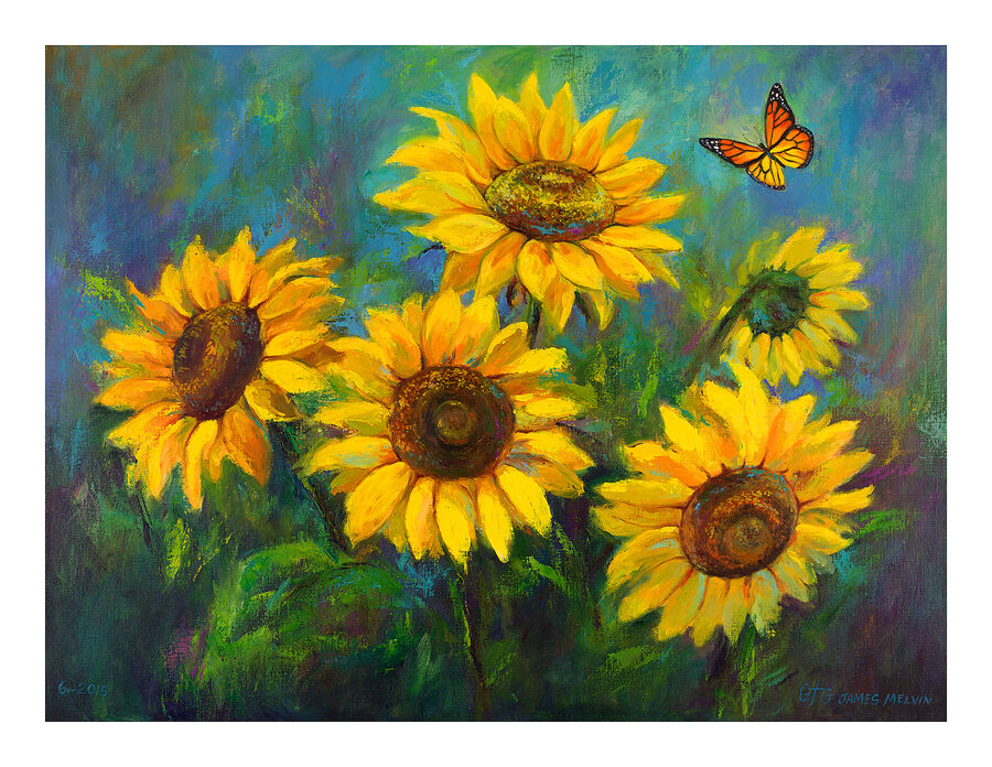 Coastal Art Notecard Sunflower