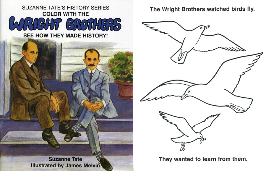 Suzanne Tate, Wright Brothers Coloring Book 036