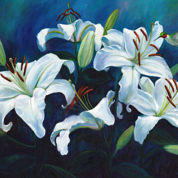 Coastal Art by James Melvin, Lilies